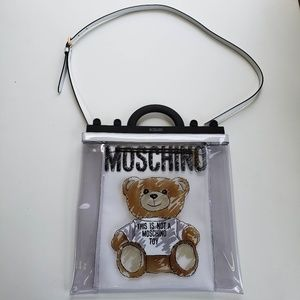 Moschino Teddy Bear Clear Tote